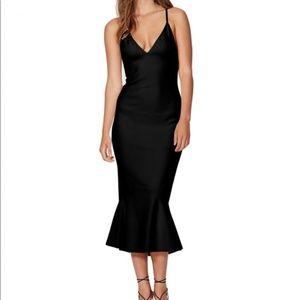 Bec & Bridge Black Gardenia Plunge Dress 6 NEW